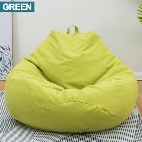 Large Bean Bag Chairs Couch Sofa Cover Indoor Lazy Lounger For Adults 80x90cm Reclining Bean Bag Gaming Chair Indoor Outdoor Extra Large Beanbag Gamer Chair # Small Size (Green, Small)