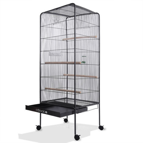 Large Bird Cage Metal Aviary XXL on Wheels 4.10 ft Bird House 146cm