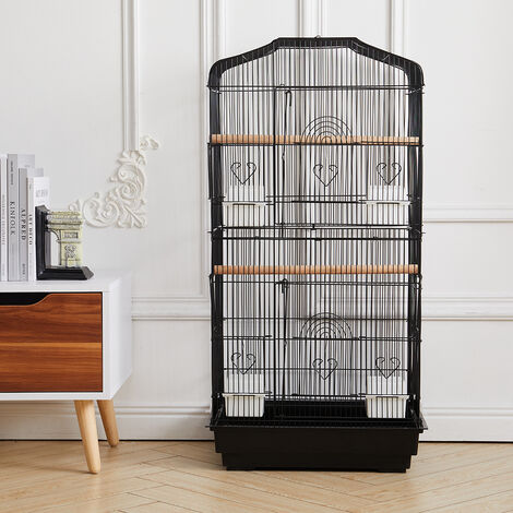 """main image of """"Large Bird Cage Standing Metal Parrot Lovebird Canary Finch Aviary Budgie Stand"""""""
