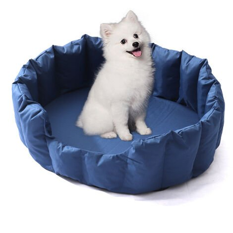 Large Blue Water Resistant Soft Dog Pet Crate Mat Pad Cushion