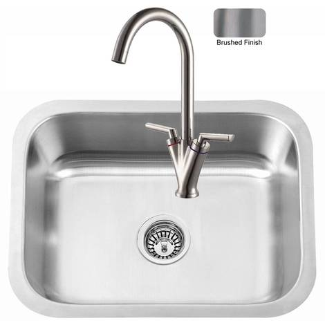 Large Brushed Stainless Steel Undermount Kitchen Sink And 8026 Tap (KST130)