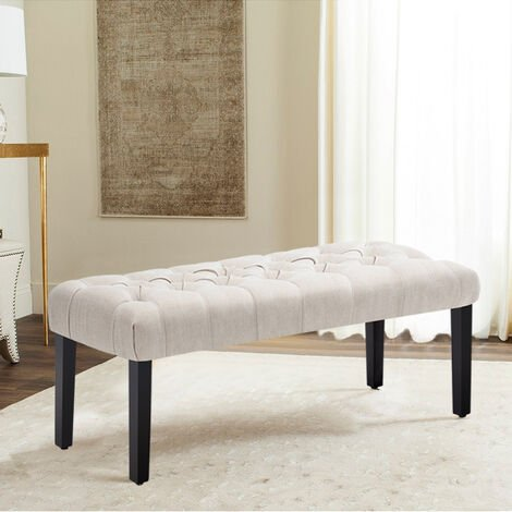 Large Button Footstool Window Bench