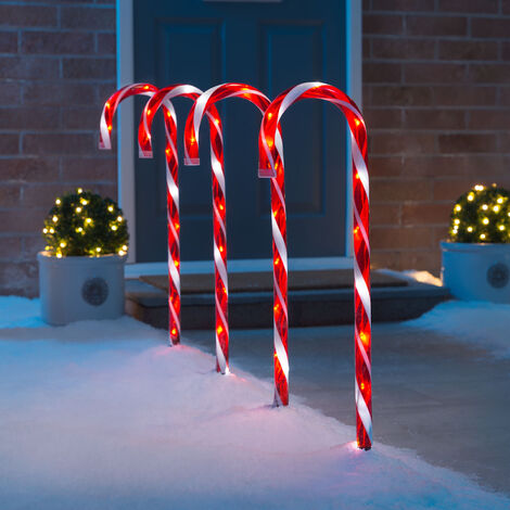 Large Candy Cane Pathway Lights
