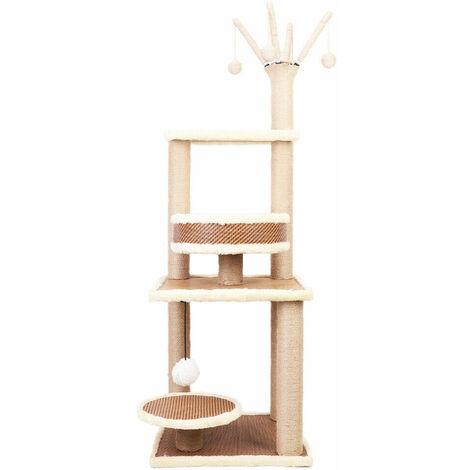 Large Cat Tree Kitten Scratching Post Activity Centre Climbing Scratcher Top High