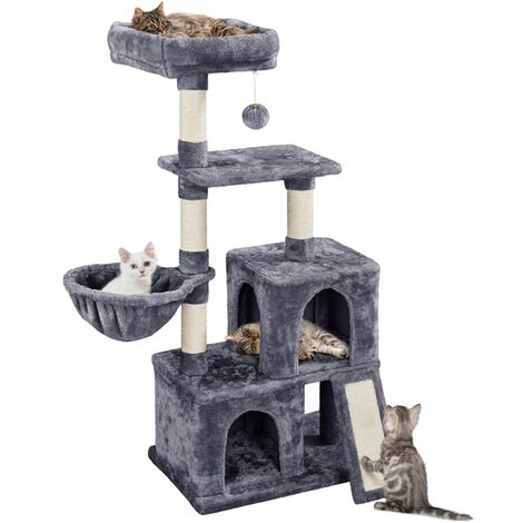 """main image of """"Large Cat Tree Tower Tall Cats Scratching Post Play and Climbing for Indoor Cats Kitten Stand House,Dark Grey"""""""
