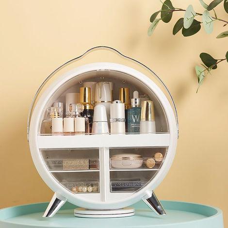 Large Cosmetic Portable Makeup Storage Box Organizer