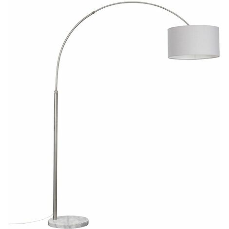 Large Curva Floor Lamp in Brushed Chrome