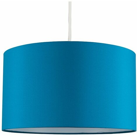 Easy Fit Pendant Light Shade 35cm Fabric Lampshade Table Lamp Ceiling - Blue