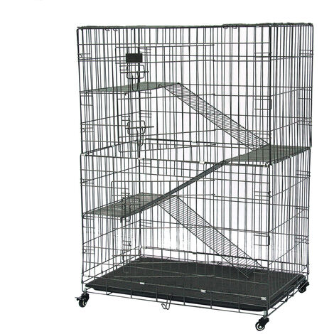 Large Folding Collapsible Pet Cat Wire Cage Indoor Outdoor Playpen Vacation