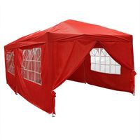 Large Folding Red Gazebo 3 x 6m