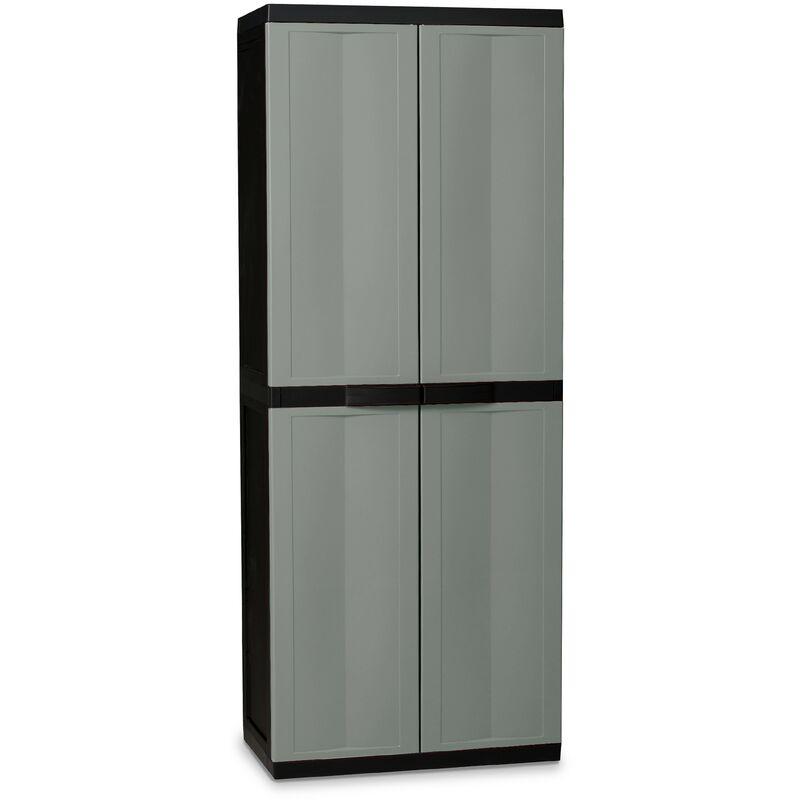 Image of Kingfisher Large Garden Storage Tool Cabinet Garage Shed Shelves Lockable