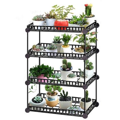Large Garden Plant Pot Stand Flower Display Shelf, 4 Tier