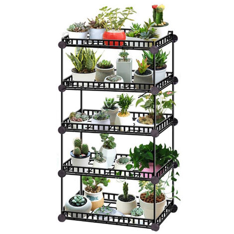 Large Garden Plant Pot Stand Flower Display Shelf, 5 Tier
