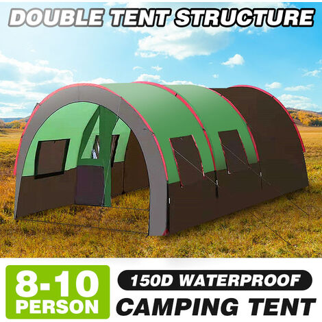 Large Group & Tanche Festival Family Camping Tunnel Tent Outdoor For 10 People