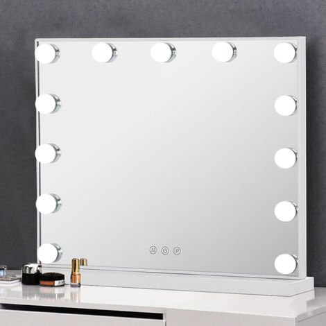Large Hollywood Makeup Dressing Mirror With 13 LED Light Touch Dimmable Bulb