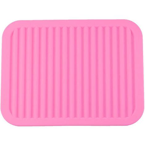 Large hot tripod pot holder, versatile dry tripod, kitchen table mat, anti-slip, flexible, durable, heat-resistant, pink rectangle 23 * 30 cm