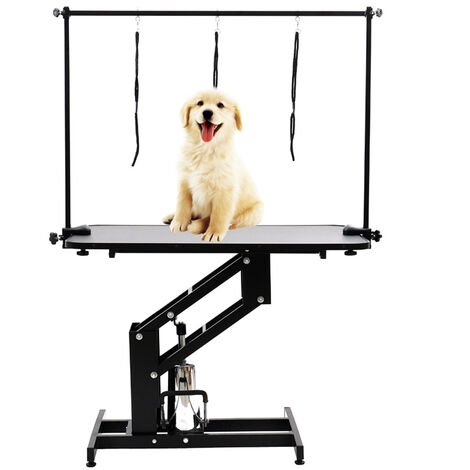 Large Hydraulic Pet Dog Grooming Table with H Bar Arm and 3 Leash