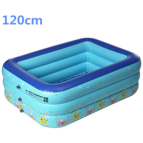 Large inflatable swimming pool for children 120cm