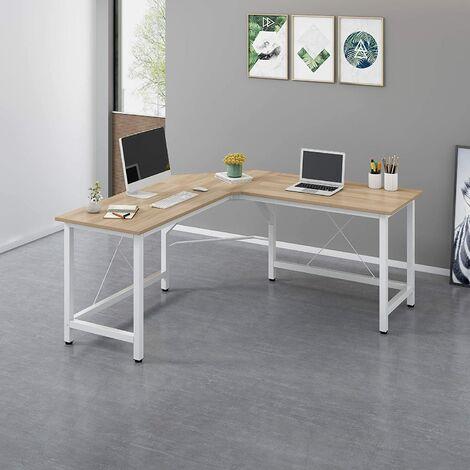 Large L-Shaped Corner Desk Computer Workstation 150x150 x73 cm