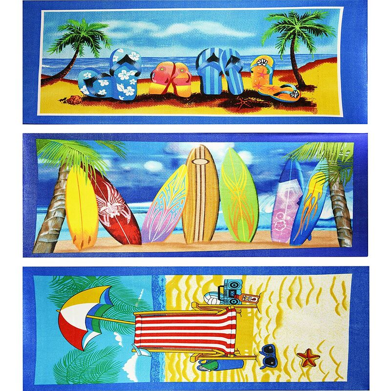 Image of Large Lightweight Microfibre Beach Holiday Bath Towel - KANDY TOYS