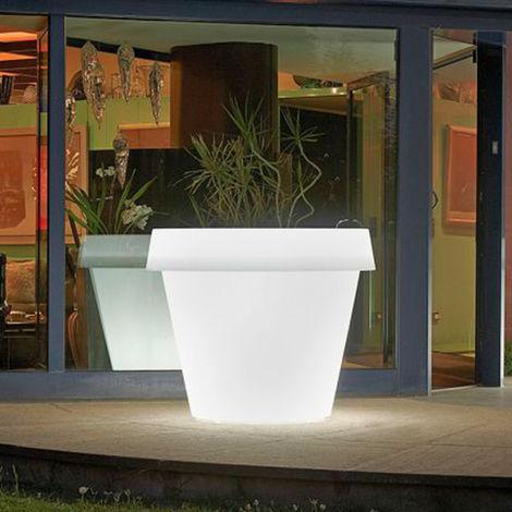 Large luminous plant pot vase design SLIDE GIO TONDO