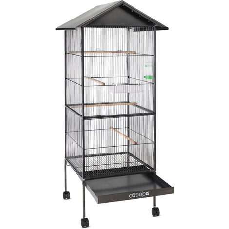 Large Metal Aviary Bird Cage XL 2 Doors Suitable for Budgies, Parrots etc.