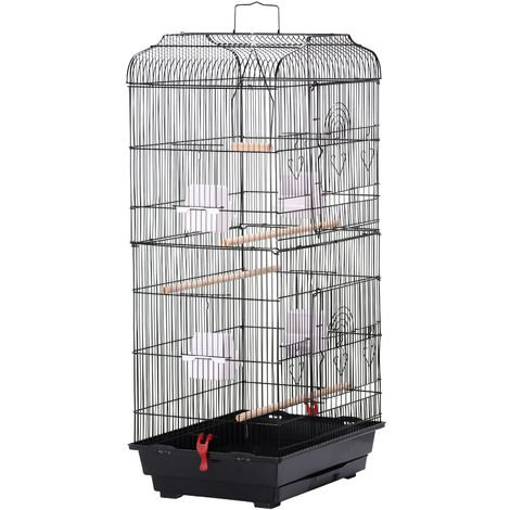 Large Metal Bird Cage With Stand Parrot Cage Budgie Canary Lovebirds Cockatiel