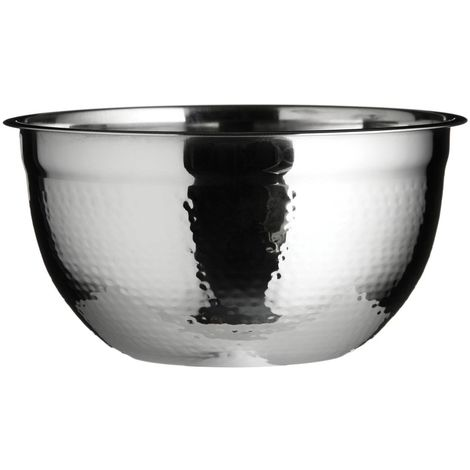 Large Mixing Bowl,Hammered Effect Stainless Steel
