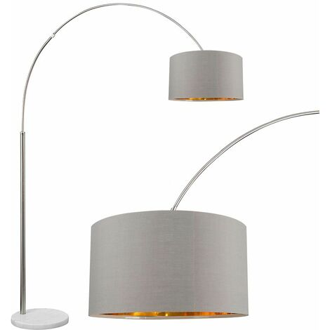 Large Modern Designer Curva Marble Floor Lamp With Shade