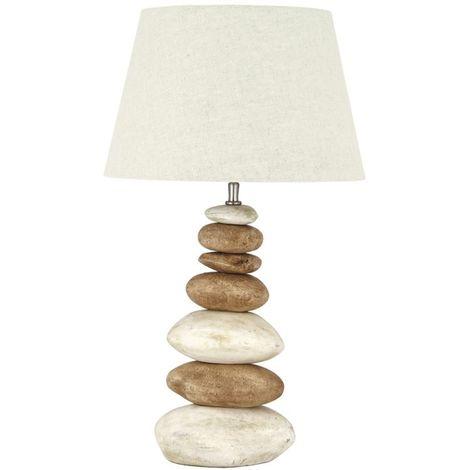 Large Natural Pebble Ceramic Lamp Base Living Room Bedside Decor
