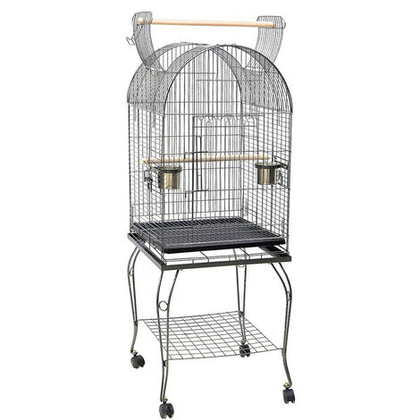 Large Open Playtop Metal Rolling Parrot Bird Cage for Parrots Cockatiels Conure