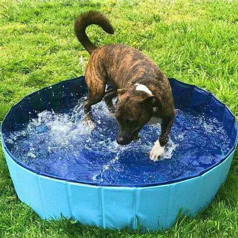 Large Pet Bath Pool Foldable Swimming Pool Dog Paddling Bathing Washer Tub Cool 120 x 30 cm