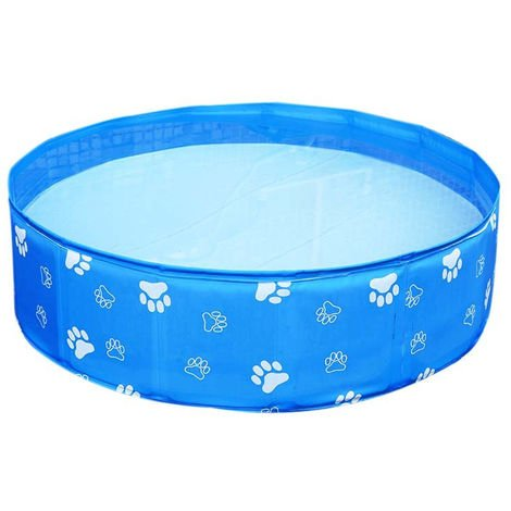 Large Pet Collapsible Swimming Pool PVC Folding Bathtub for Dogs Cat Kiddie 80x20cm