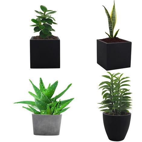 Large Plant Flower Pot Concrete Planter Outdoor Indoor Cube Square Garden Box