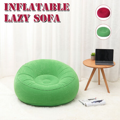 Large PVC Inflatable Lazy Sofa Chairs, Lounge Chair Seat, Beanbag, Sofas, Beanbag (Green)