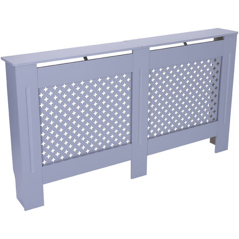 Large Radiator Cover White Painted Wall Cabinet Wood MDF Heating Covers Shelf - Different colours