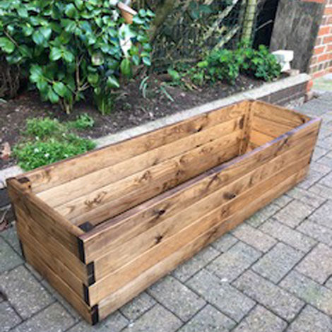 Large Rectangular Planter Fully Assembled