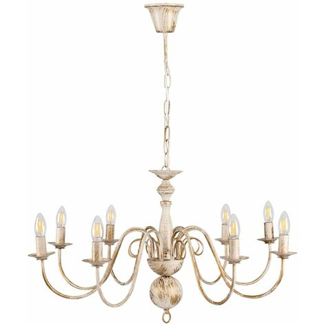 Large Retro 8 Way Ceiling Light Chandelier Fitting