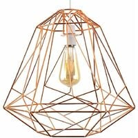 Large Retro Geometric Metal Basket Cage Ceiling Pendant Light Shade