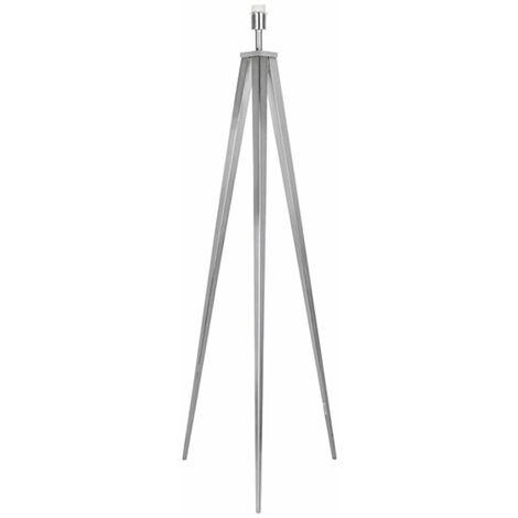 Large Satin Nickel Metal Tripod Floor Lamp Base