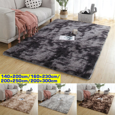 Large Soft Shaggy Carpet 40mm Thick For Living Room Home European Warm Fluffy Plush Floor Mat Rugs Kids Bedroom Faux Fur Rugs Rugs (Dark Gray, 140x230cm)