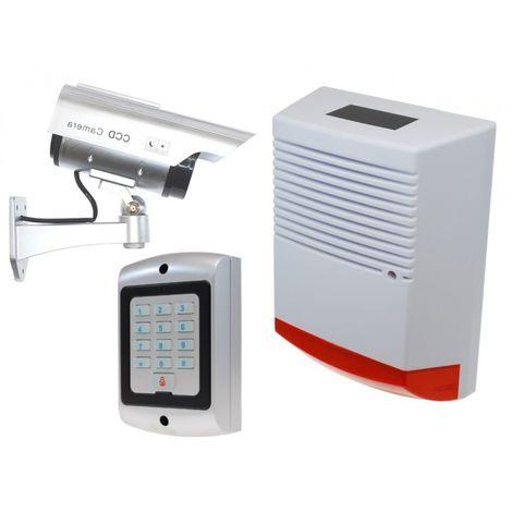 Large Solar Dummy Alarm Siren, Solar DC2 Dummy CCTV Camera & Dummy Keypad. [014-0230]