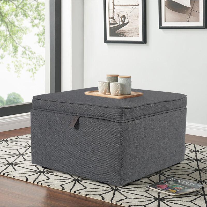 Large Square Ottoman Storage Box Footstool 60cm Jm1440