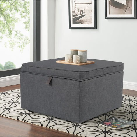 Large Square Ottoman Storage Box Footstool