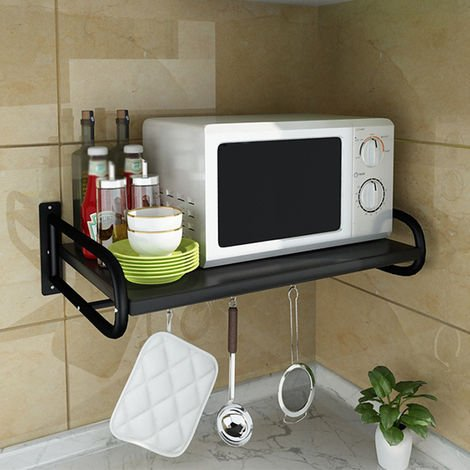 Large steel shelf microwave oven support 63x38x12x17.3 cm