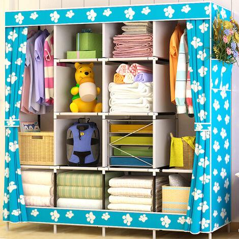 Large storage capacity foldable fabric bedroom storage cabinet long length 170 (C style)