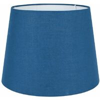 Large Tapered Table / Floor Lamp Light Shade Navy Blue Fabric Finish