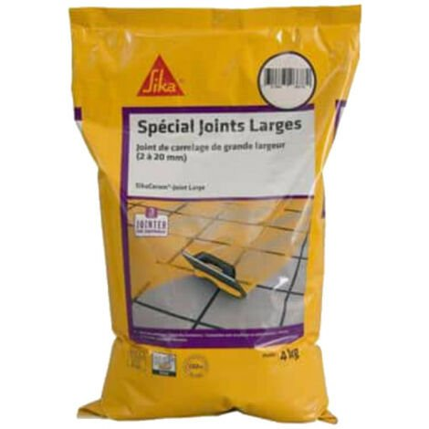 Large tile joint mortar 2 to 20mm wide CG2W - SIKA SikaCeram Large Joint - Grey - 4kg