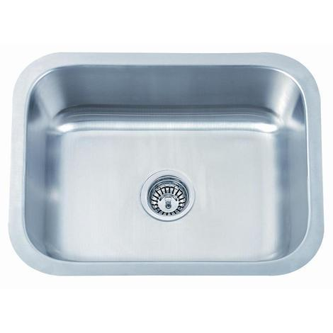 Large Undermount Kitchen Sink 560x460mm Bowl In Brushed Stainless Steel (A28A bs)