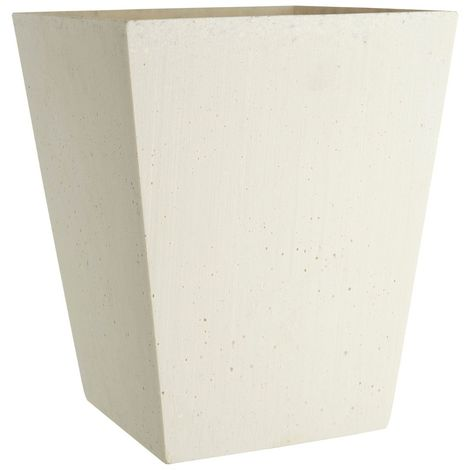 Large vase,white polyresin,for decorative purposes only